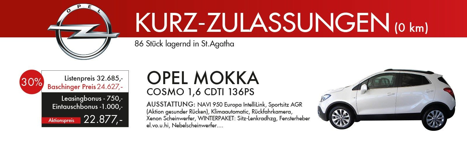 Mokka -30% Rabatt ! bei Ing. Günther Baschinger GmbH in