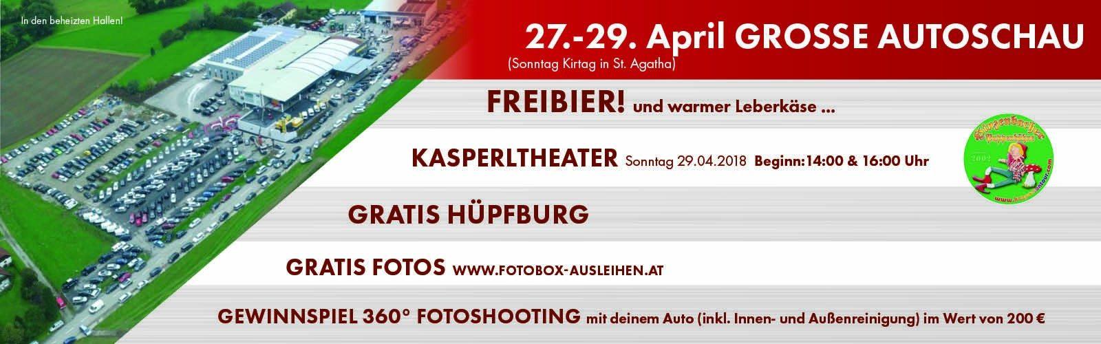 27.-29. April Große Autoschau bei HWS || Ing. Günther Baschinger GmbH in