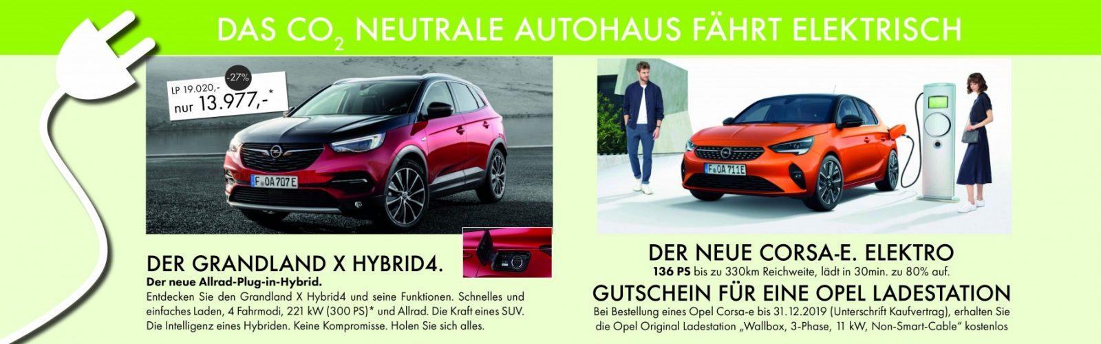 ELEKTRO Corsa und Grandland bei Ing. Günther Baschinger GmbH in