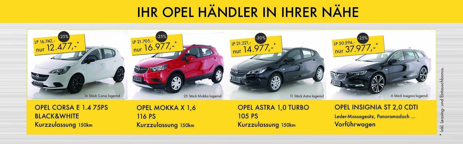 Opel Kirtagsaktionen bei Baschinger bei Ing. Günther Baschinger GmbH in
