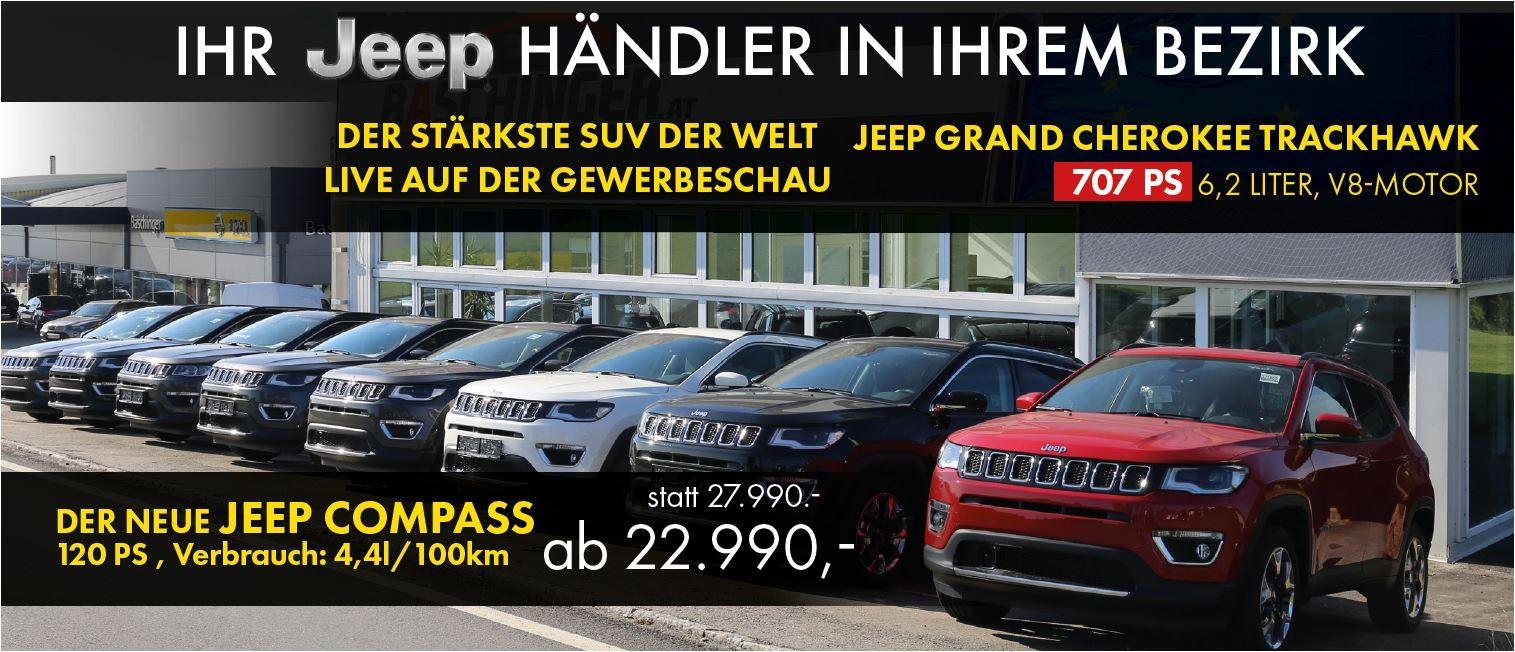 Jeep GEWERBESCHAUAKTION bei Ing. Günther Baschinger GmbH in