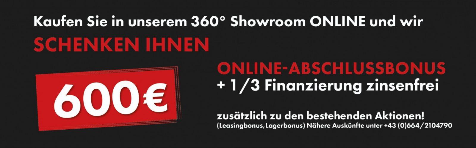 600 Onlinebonus bei Ing. Günther Baschinger GmbH in