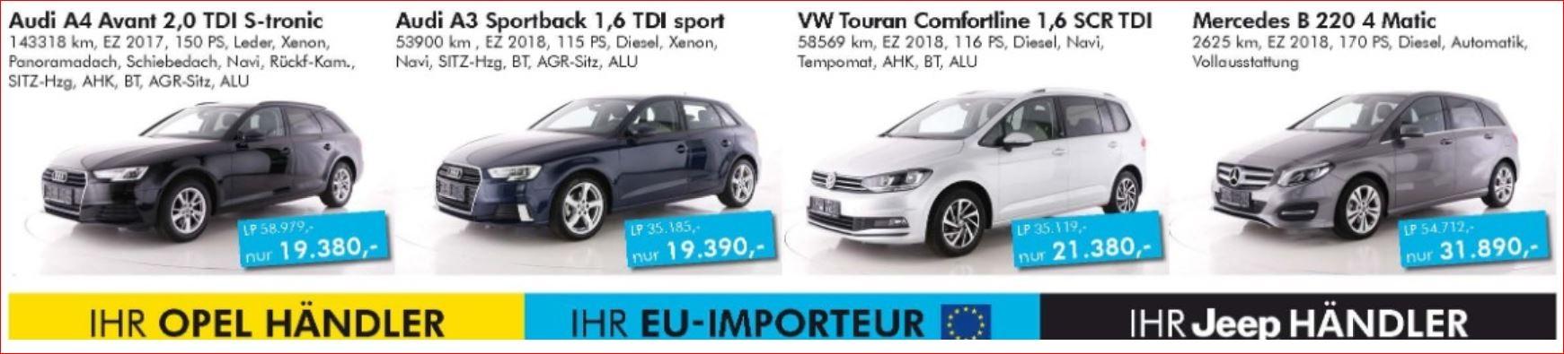 Junge Audi VW BMW Skoda Mercedes bei Ing. Günther Baschinger GmbH in